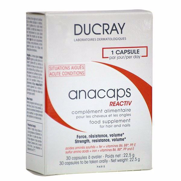 Ducray Anacaps Hair Loss Treatment Reactive - 30 Capsules