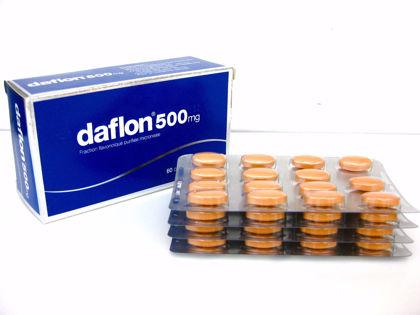 Daflon 500mg Tablets - 60 Capsules
