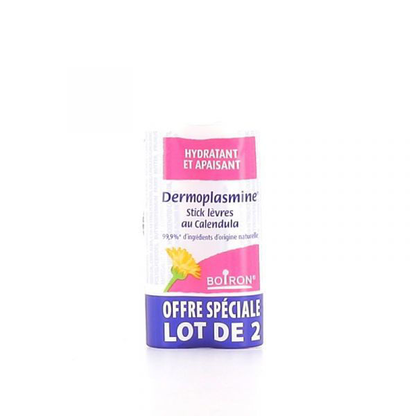Boiron Dermoplasmine Lip Balm - 2 x 4G Sticks