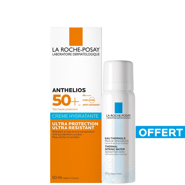 Picture of La Roche Posay Anthelios SPF50+ Hydrating Cream - 50 ml plus free Eau Thermal spring water - 50ml