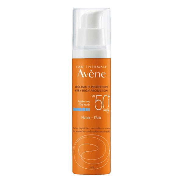 Picture of Avène Eau Thermal SPF50+  Dry Touch Fluid for normal, combination skin - 50ml